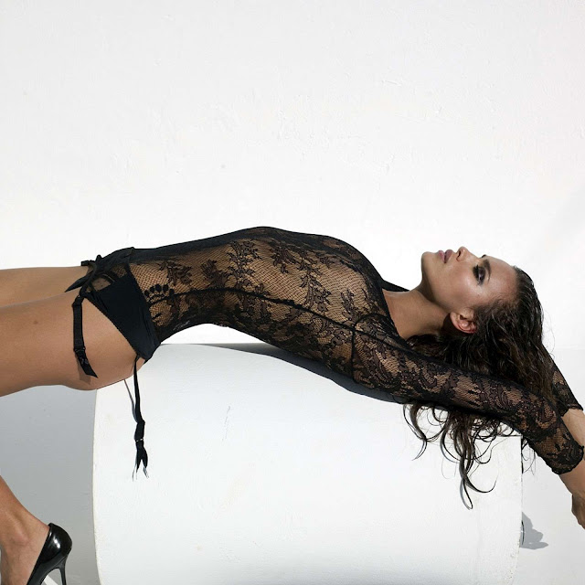 Irina Sheik in lingerie
