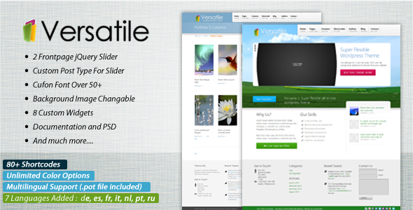 Image for Versatile – Corporate & Portfolio Theme ThemeForest