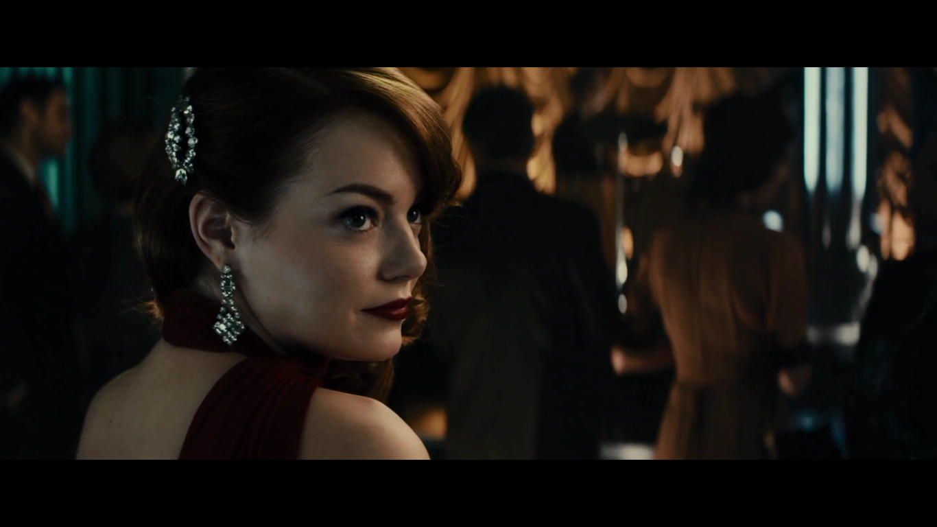 Emma stone in a movie Gangster squad