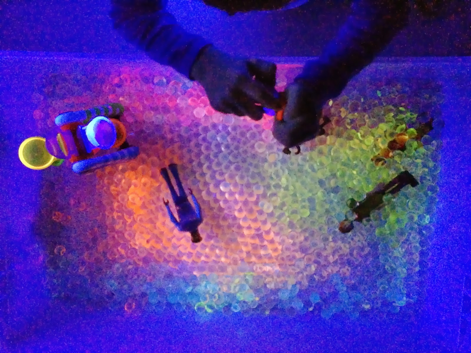 water beads and black light