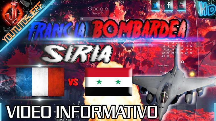 FRANCIA BOMBARDEA SIRIA 2015