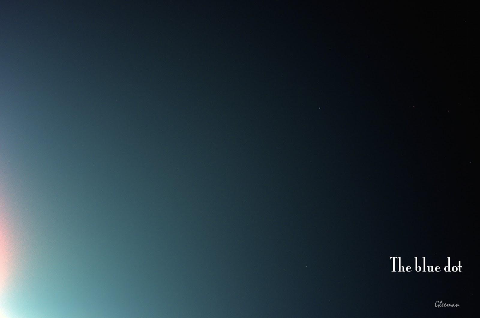 月食結束後,沐浴在月華中,光暈邊緣的天王星。