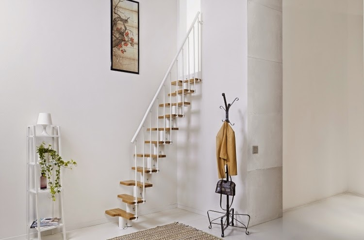14 functional true space saving stairs design ideas - Space saving stair design ...
