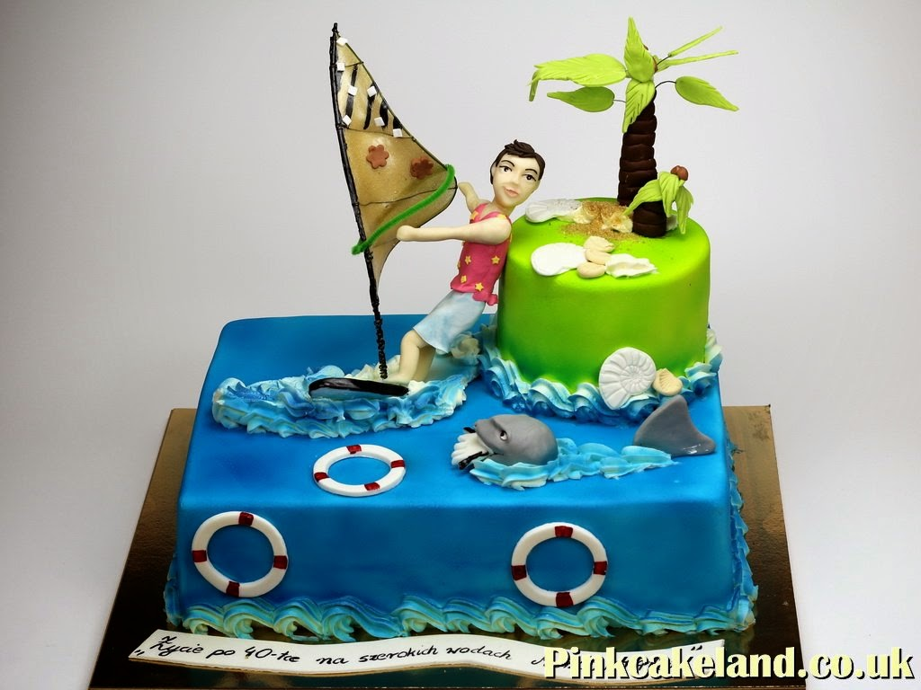 Windsurfing Birthday Cake for Boy, London Cakes