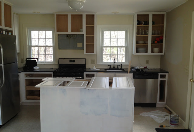 Semi Gloss White Kitchen Cabinets White With a Semi-gloss