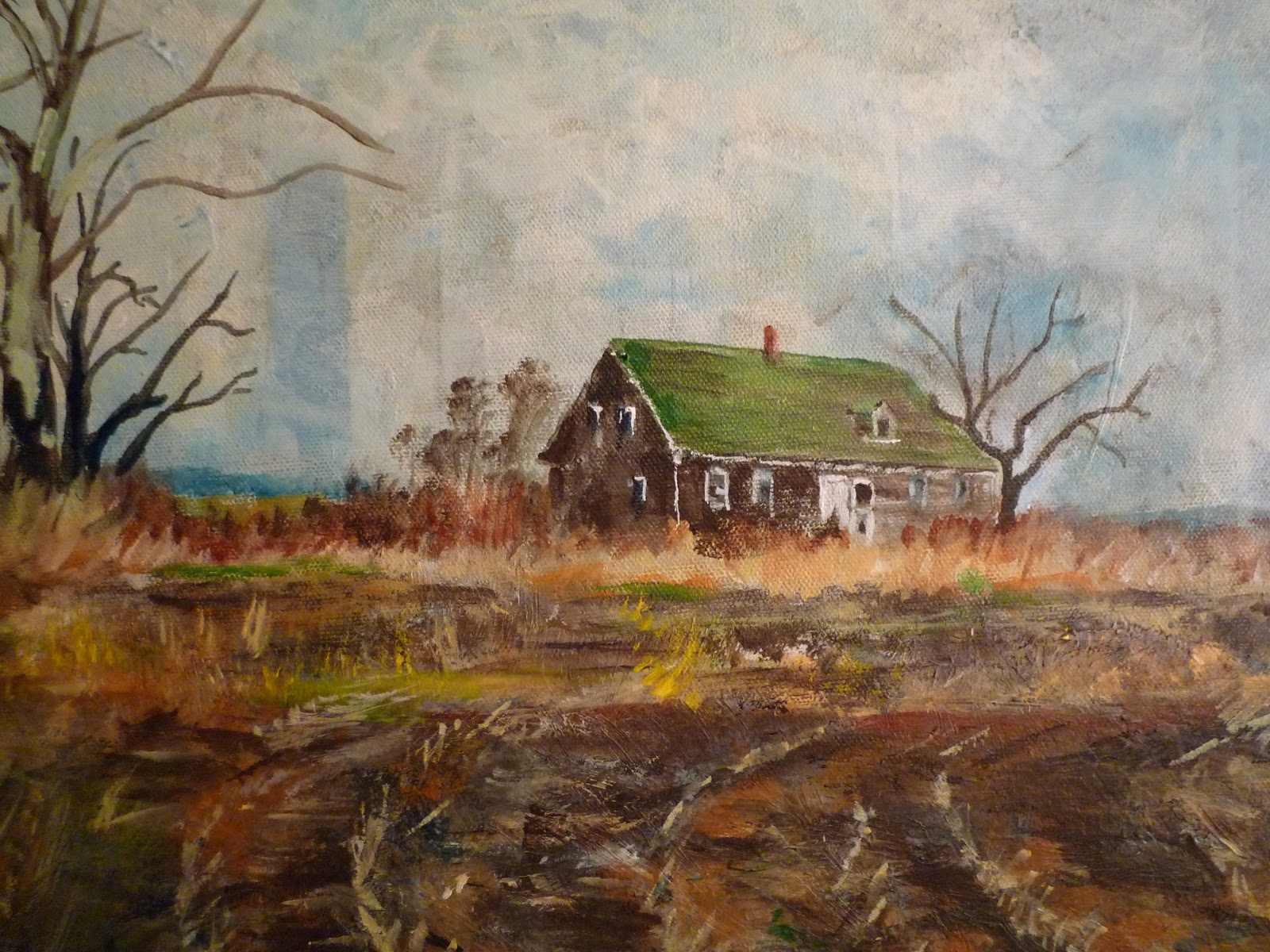 art by michael perchard the phoenix farm house acrylic