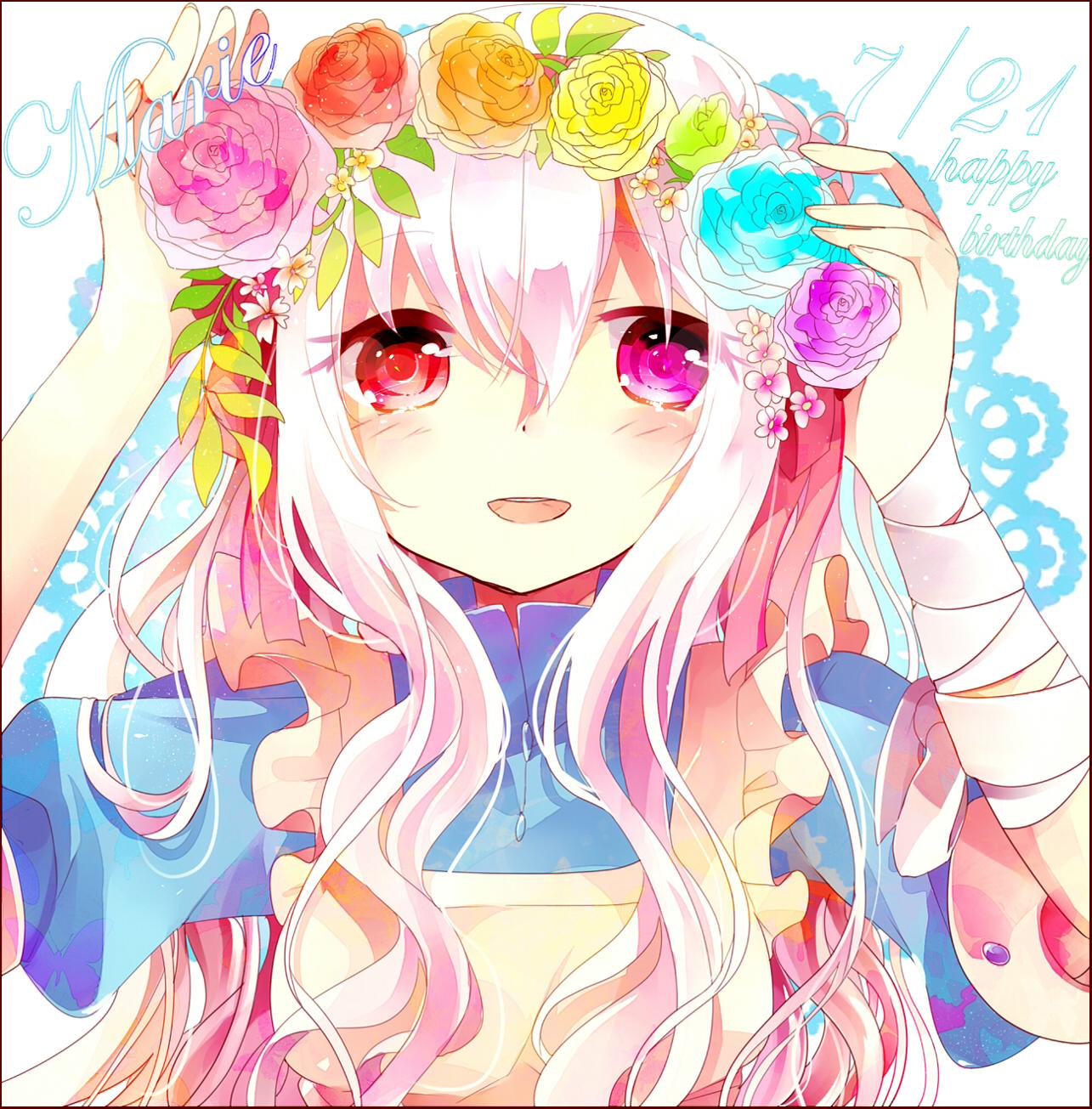 anime cute colorful girl - photo #12
