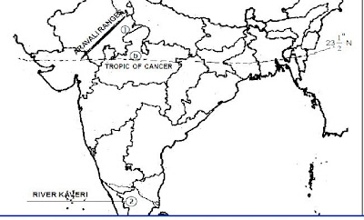tropic of cancer passes through which states if u show in the map it ...