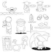 UN REGALO PARA EL VERANO: Dibujos para colorear ninos felices