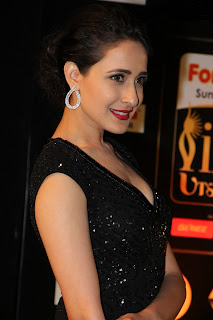Pragya Jaiswal looks Really cute in a Deep Neck Black gown with a Plunging Neckline Spicy Pics