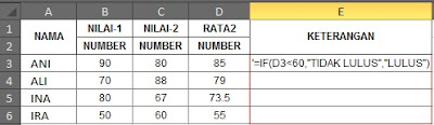 fungsi formula if excel 2003, 2007 ,2010