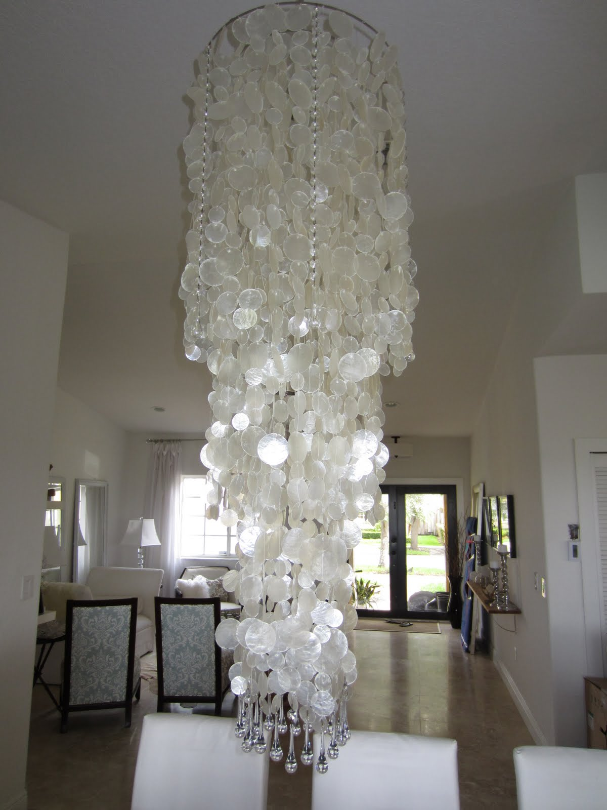 The cuban in my coffee diy chandelier adding crystals to for Diy crystal chandelier lamp