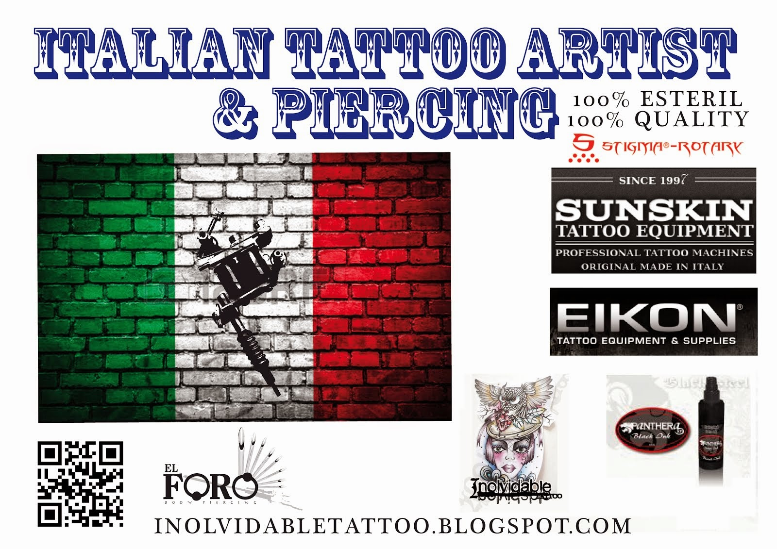 Inolvidable Tattoo Staff 100% MADE IN ITALY