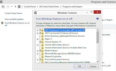 Cara Mudah dan Cepat Install Net Framework 2.0 3.0 3.5 di Windows 8 Pro 64bit
