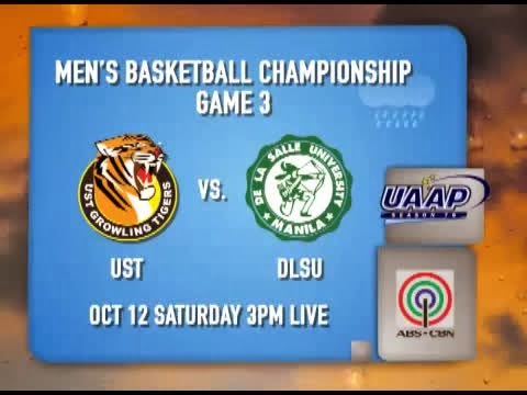 76th UAAP Basketball Championship Game 3 Live Stream and Telecast (October 12)