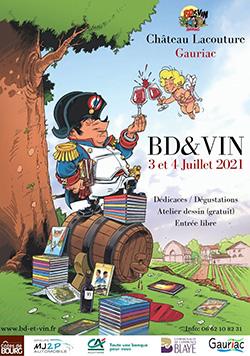 "Affiche festival ""Bd & vin"""