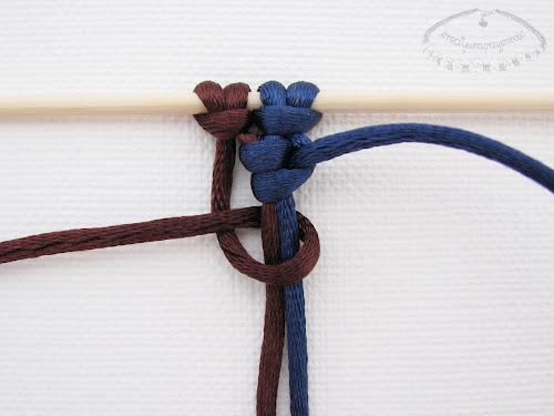 Podwójny węzeł łańcuszkowy wykonywany na 4 sznurkach - 6