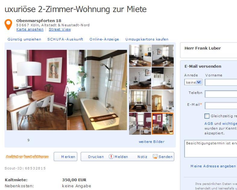 informationen ber wohnungsbetrug informations about On 2 zimmer wohnung braunschweig