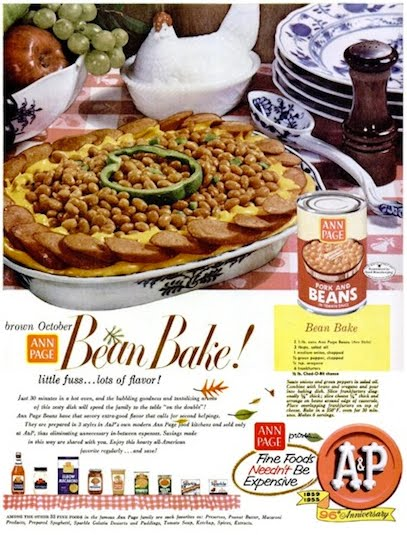 "Ad with headline ""brown October Bean Bake'"