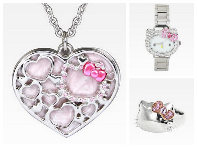 Hello Kitty Silver Jewelry, Hello Kitty Accessories, Hello Kitty Watch, Hello Kitty Necklace, Hello Kitty Ring, Hello Kitty Silver