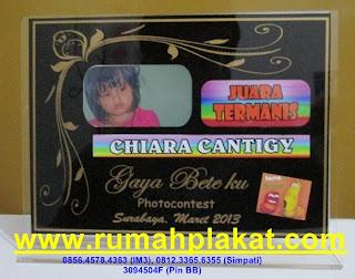 spesialis plakat akrilik manado, harga piala 1 set, plakat jakarta, 0856.4578.4363, www.rumahplakat.com