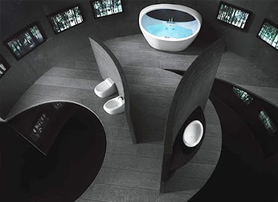 futuristic contemporary bathroom decorating ideas