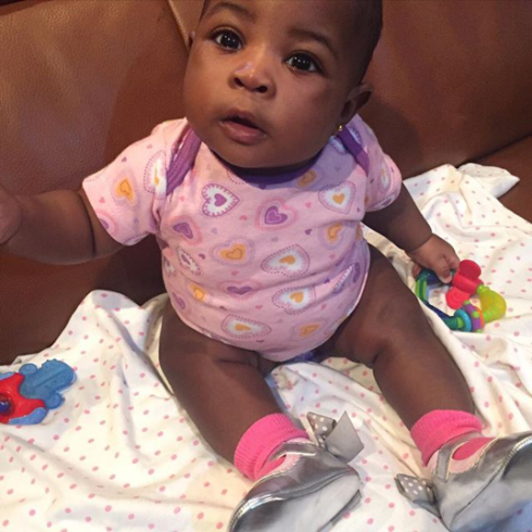 Davido shares cute photo of his daughter