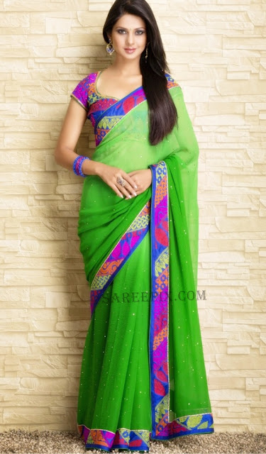 Jennifer-winget-dual-color-saree-photoshoot-Meena-Bazaar