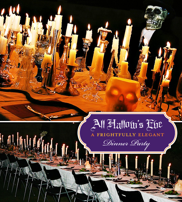 rivernorthlove all hallow 39 s eve dinner party. Black Bedroom Furniture Sets. Home Design Ideas