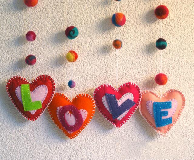 Bordados de corazones