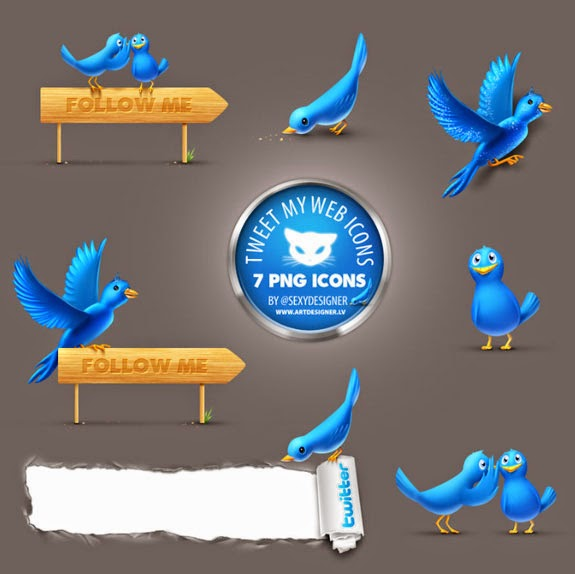 7 Free Twitter Icons