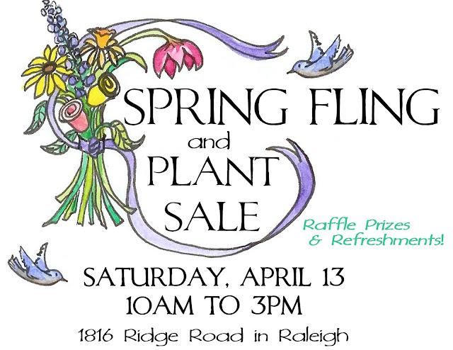 Saturday April 13th craft show and plant sale at Raleigh Moravian Church