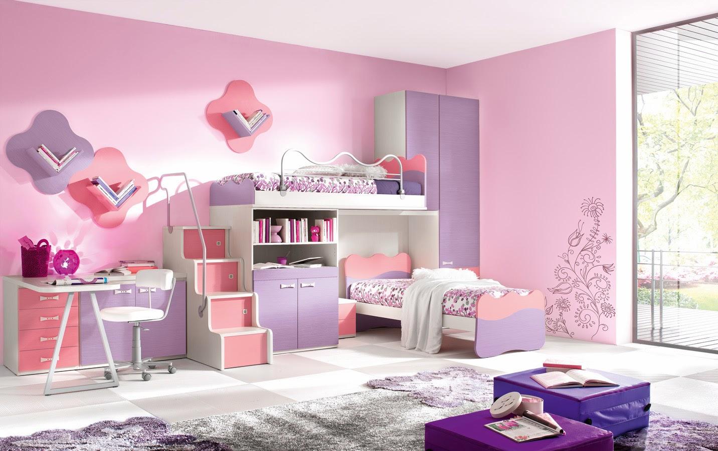 Inspiring Kids Bedroom with Brilliant Interior Decor Idea