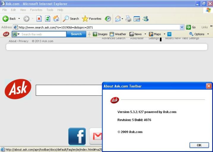что такое ask toolbar