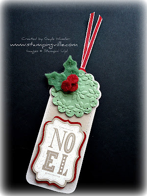 Holiday Gift Tag Idea Using Stitched Felt Accents