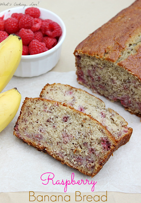 Raspberry Banana Bread