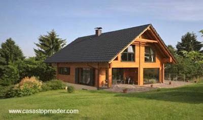 Casa de madera contemporánea tipo chalet