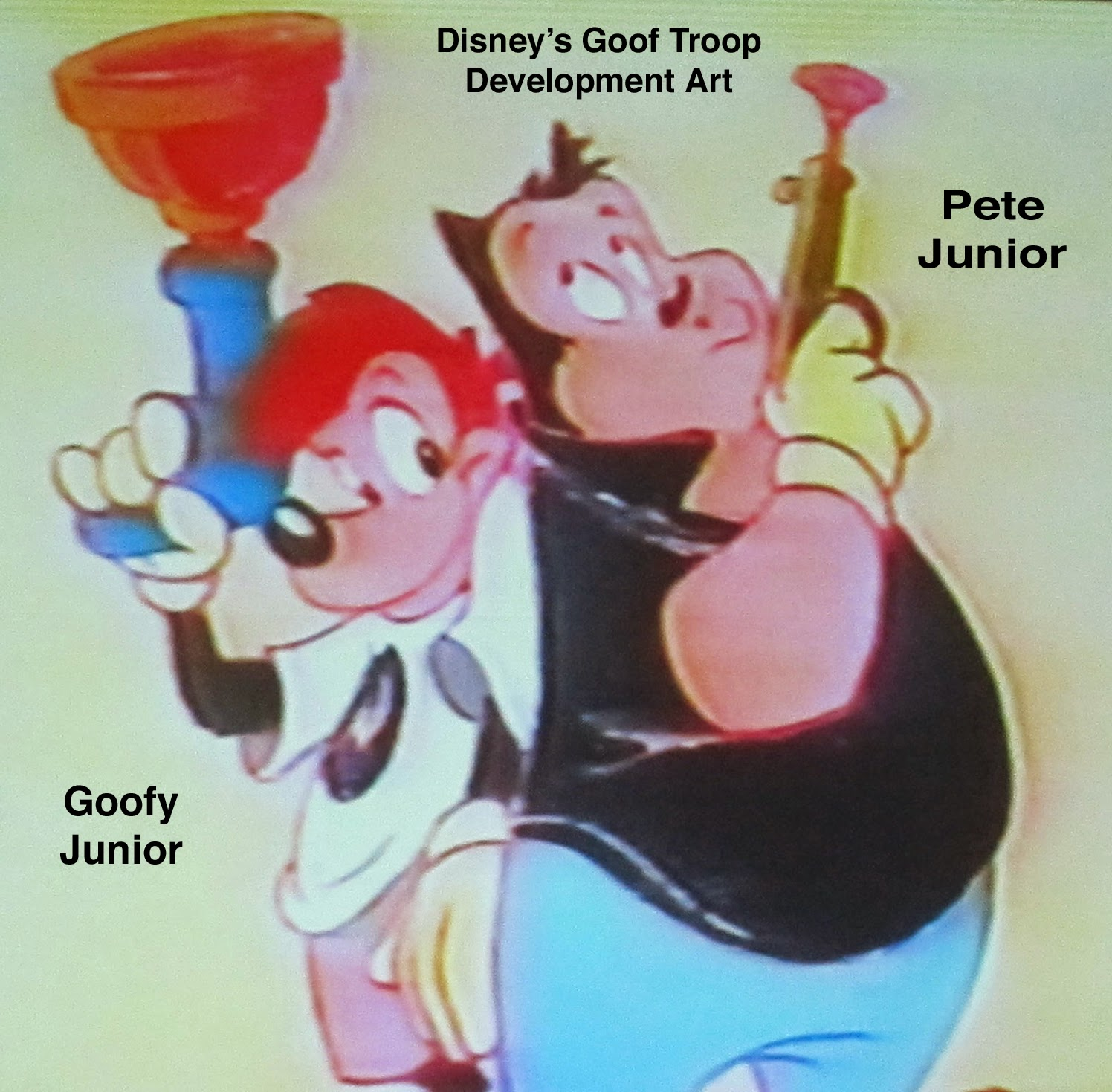 Early Development Art For Goof Troop Reveals That An Older Version Of The Red Headed Goofy Junior From Classic Theatrical Cartoons Had Been