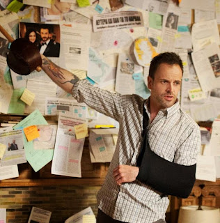 Jonny Lee Miller as Sherlock Holmes in CBS Elementary Season 1 Finale Episode # 24 Heroine