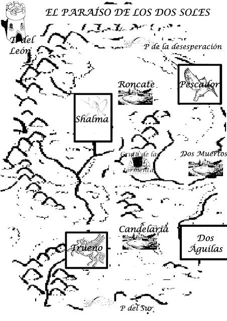 Mapa antiguo del Paraíso de Dos Soles