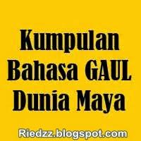 bahasa gaul dunia maya