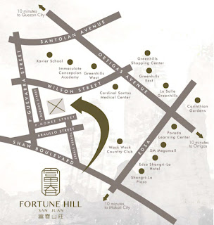 Fortune Hill San Juan Location Map