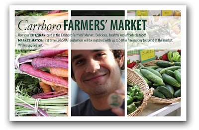 Farmers Market Postcard design