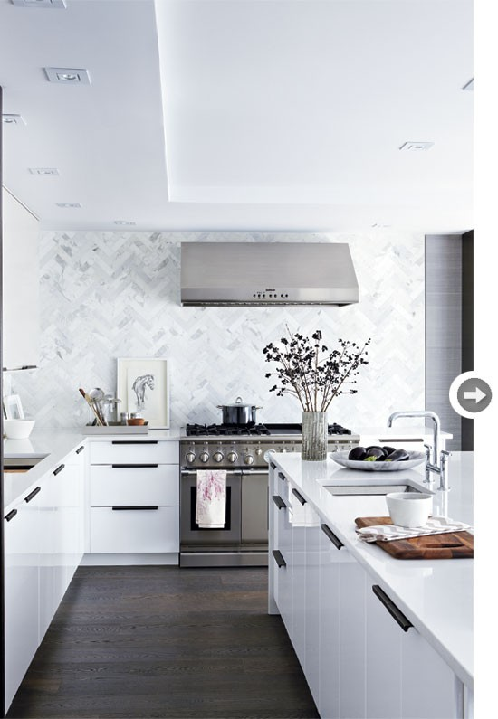 Decoraci n de cocinas de color blanco casas decoracion - Cocina de color ...