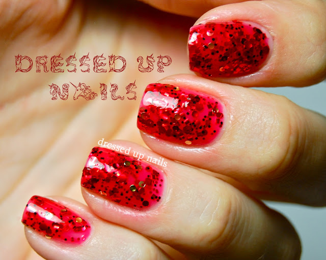 Dressed Up Nails - Serum No. 5 Poppy Fields swatch