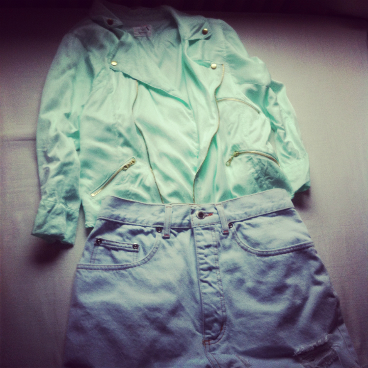 jacket shirts blue c&a