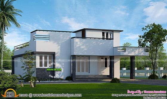 1000 Sq Ft 2 Bed Room Villa Kerala Home Design Bloglovin