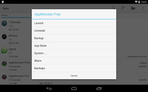 apps manager app for android