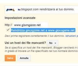 dominio blog senza blogspot