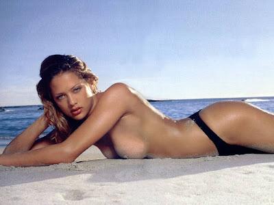 Lorraine Van Wyk Topless Bikini Wallpaper